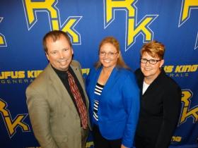 Brett Fuller, Kathleen Dreyer, and Dr. Jennifer Smith