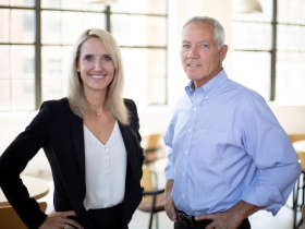 Andrea Bukacek and Jim Cairns