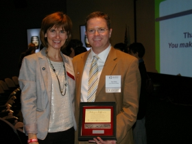 Brenda Campbell, Executive Director of Make A Difference Wisconsin, and Tom Parks