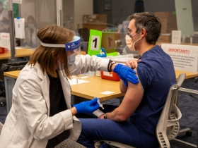 Dr. Ben Weston receives second dose of COVID-19 vaccine