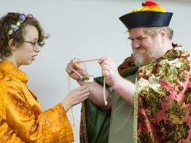 Emperor (Paul Pfannenstiel) and Nightingale (Mary Kostopoulos)