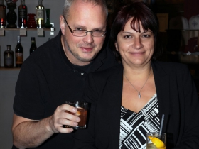 Urban Milwaukee Publisher and Co-founder, Dave Reid his girlfriend Mariiana Tzotcheva.