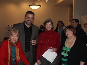 Barbara Leigh, Carl Lockrem, Grand Avenue Club Board President Mary Kay Braza and Diane Johnson