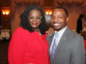 Gwen Moore and Chevy Johnson