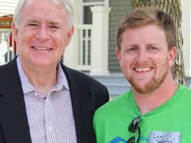 Tom Barrett and Lee Rowley. Photo courtesy of NEWaukee.