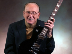 Les Paul portrait by Erol Reyal, courtesy of Brad Smith