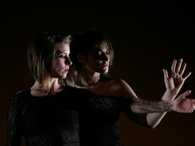 Laura Murphy, of Wild Space, and guest composer-vocalist Amanda Schoofs.