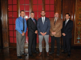 The 2017 Milwaukee NARI Executive Officers: (l-r) Tom Mainville, CR, Secretary; Bingo Emmons, CR, UDCP, CRPM, Treasurer; Josh Brown, President; Dan Callies, CR, UDCP, Immediate Past President; and Chris Egner, MCR, CKBR, UDCP, CRMP, Vice-President.