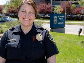 Diana Rowe, District Six Commander Milwaukee Police Department.  Photo by Benjamin Slane.