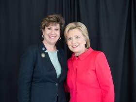 Jennifer Shilling and Hillary Clinton