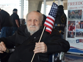 Veteran Donald Lemay, 84, said he was excited to be at the Veterans Day Parade.