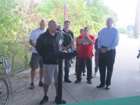 Ald. Jose Perez shares his thoughts on the new trail.