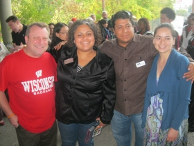 Reps. Zepnick and JoCasta Zamarripa, and friends pose for a picture.