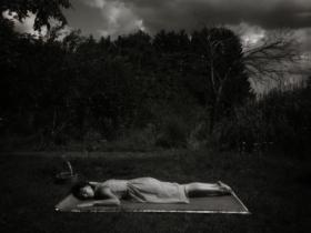 Lauren Semivan and John Shimon Untitled (pinhole exposure made during the creation of photogram #43), 2018