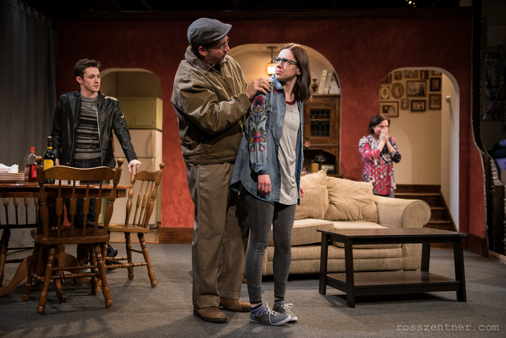 Max Pink, Reese Madigan, April Paul and Elizabeth Ledo in Renaissance Theaterworks\' production of RUSSIAN TRANSPORT