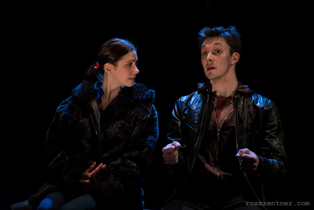 April Paul and Mark Puchinsk in Renaissance Theaterworks\' production of RUSSIAN TRANSPORT