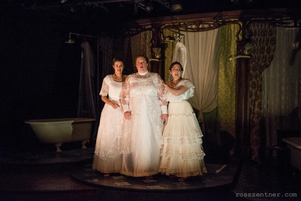 Susie Duecker, Marcee Doherty Elst, and Elyse Edelman in The Drowning Girls