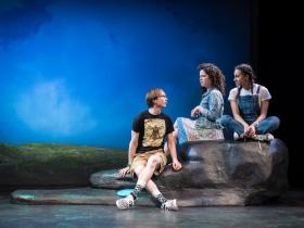 Annie Jump: Jarrod Langwinski, Rachael Zientek and Reese Parish