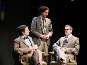 Trevor Rees (Francis Crick), Nick Narcisi (James Watson), & Neil Brookshire* (Maurice Wilkins)