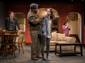 Max Pink, Reese Madigan, April Paul and Elizabeth Ledo in Renaissance Theaterworks' production of RUSSIAN TRANSPORT
