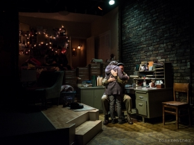 Elizabeth Ledo and Reese Madigan in Renaissance Theaterworks' production of RUSSIAN TRANSPORT