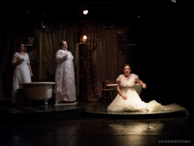 Susie Duecker, Marcee Doherty Elst, and Elyse Edelman in The Drowning Girls