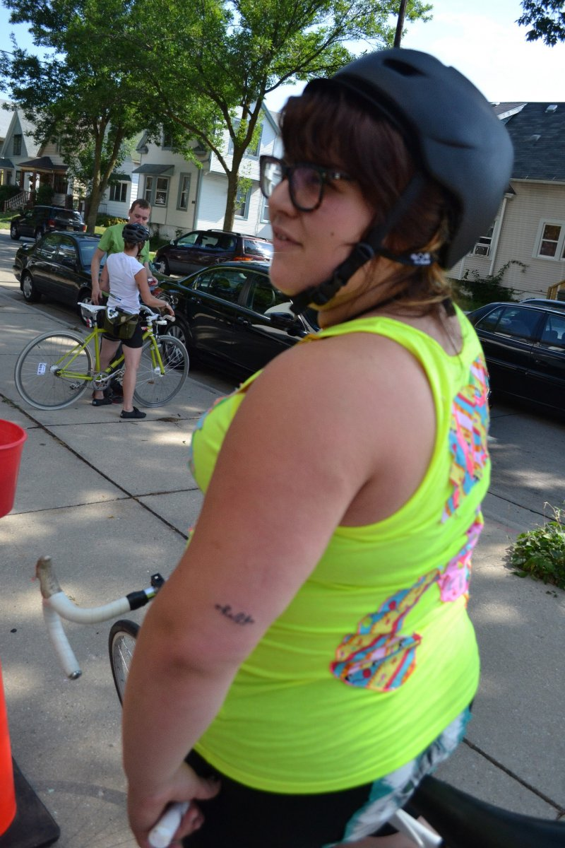 Cyclist Sports This Years Riverwest 24 Tattoo