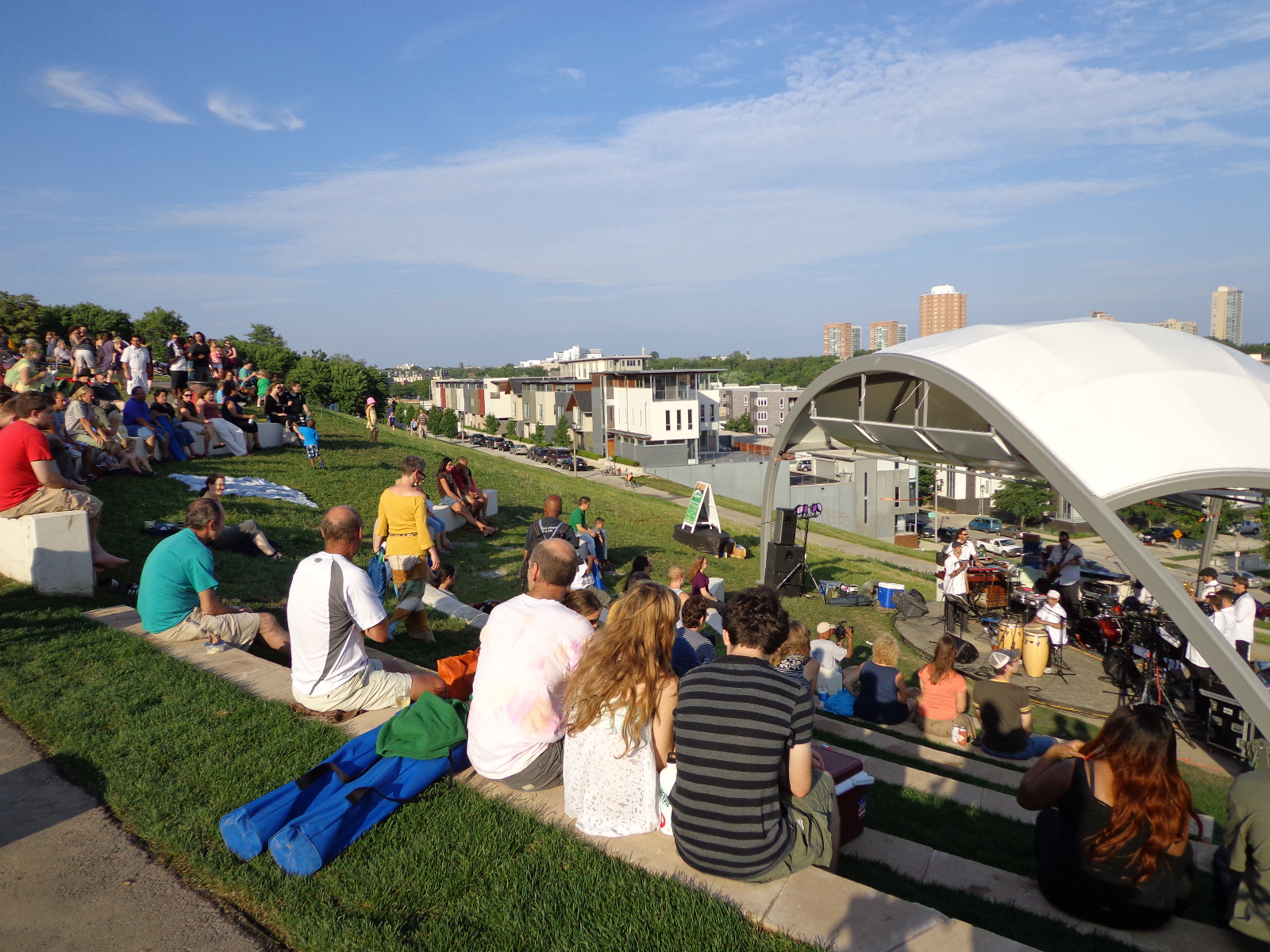 The HGA Architects-designed pavilion provides much better sound at the concerts.