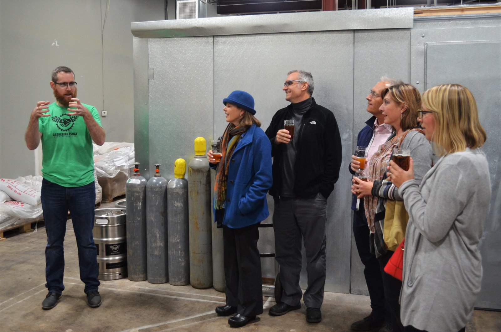 Brewery tour at Gathering Place Brewing Co.