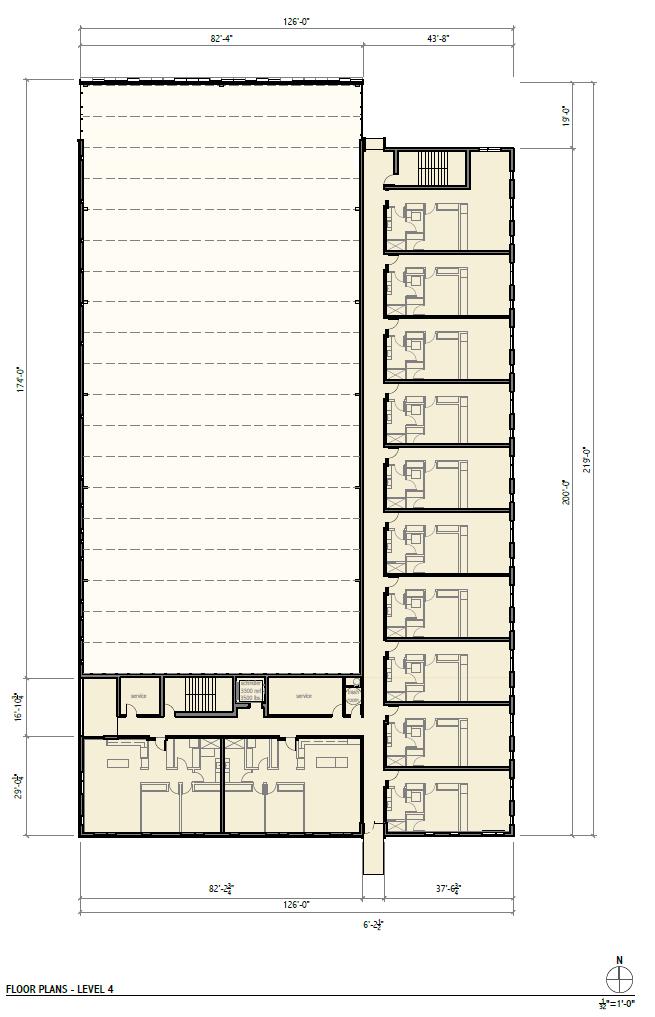 Rivercrest Phase II Level 4 Floor Plan.