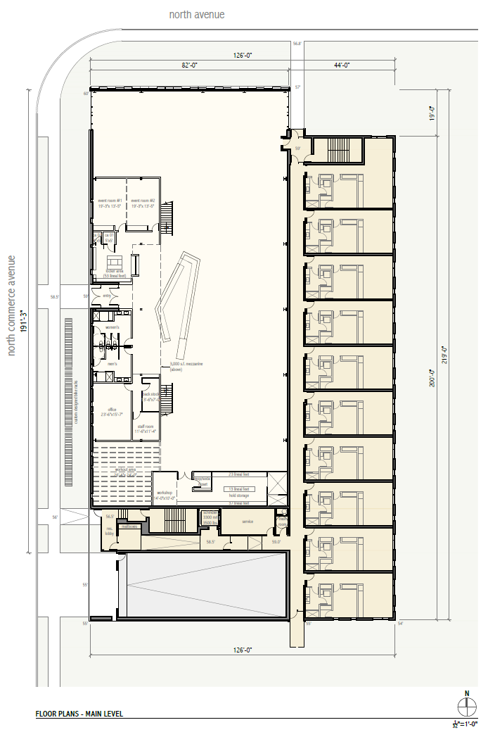 Rivercrest Phase II Main Level Floor Plan.