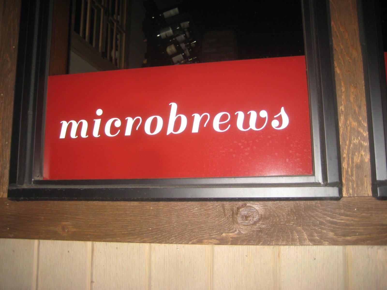 Microbrews.