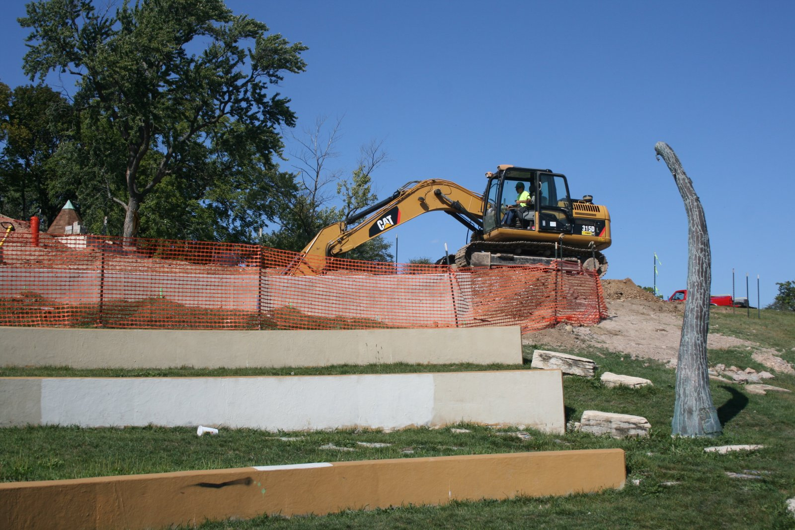 Kadish Park Amphitheater Construction
