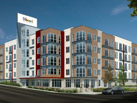 1150 North Apartments Rendering of originally approved proposal.