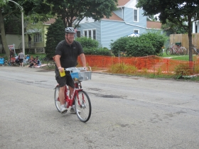 Dave Reid on the B-Cycle.