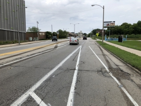 North Avenue Bridge Protected Bike Lane