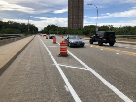 Locust Street Bridge Striping