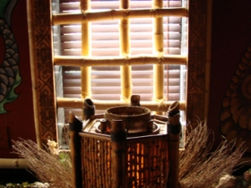 Bamboo Windows made by Don.