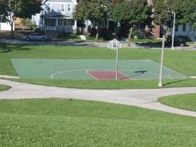 Basketball at the reservoir