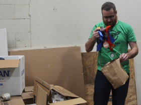 Gathering Place Brewing Co. Founder and President Joe Yeado keeps his awards in a paper bag.