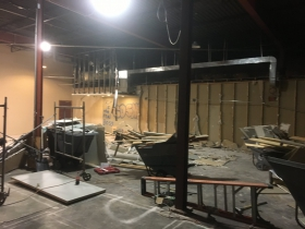 Construction of Gathering Place Brewing Company