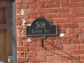 Glover Avenue address plate