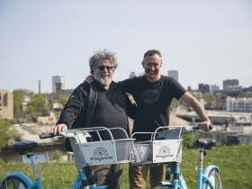 Chris Kegel, President of Wheel & Sprocket, and Kevin Hardman, Executive Director of Bublr Bikes