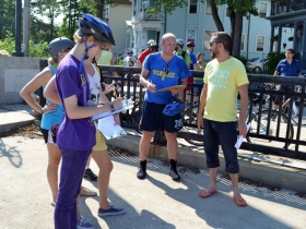 Harvey Opgenorth Guides Riders on a Tour Through Blue Dress-Park