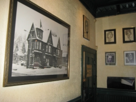 A photo of the bar in winter