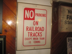 No Parking on Railroad Tracks