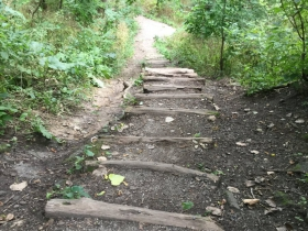 Steps down to the river