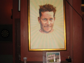 An early portrait by Mike Fredrickson. The ones placed here before the smoking ban went into effect are darker than the later ones.