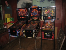 There is a resurgence of pinball, and three machines here to accommodate your interest.