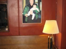 A Mike Fredrickson portrait of Steve Johnson, and a no-longer little baby.